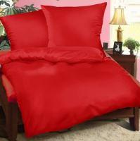Saténový povlak 50x70 cm červená