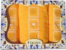 Luxusní dárkový froté set 1 osuška 2 ručníky (sytě_žlutá)