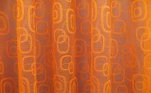 Záclona Oblázky výška 80 cm (oranžová)