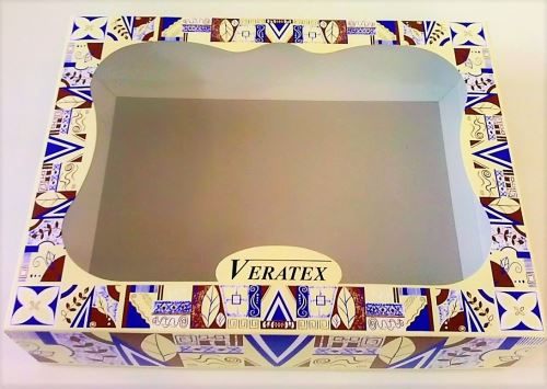Krabička dárková s okénkem 37x27 výška 9cm