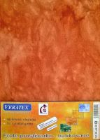 Froté prostěradlo  batika 100x200 cm sv.rezavá batika