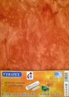 Froté prostěradlo  batika 200x200 cm sv.rezavá batika