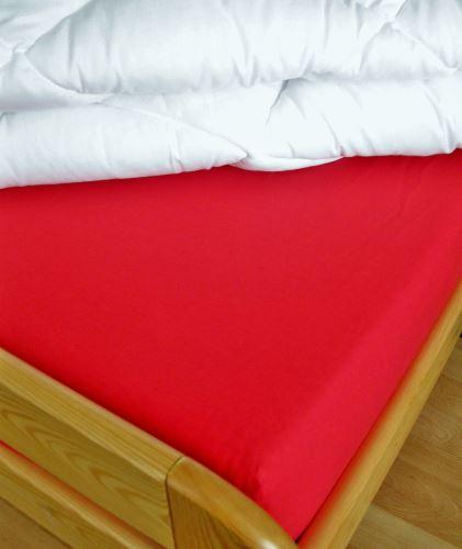 Bavlnené prestieradlo dvojposteľ 220x240 cm (červená)