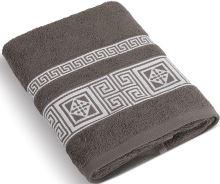 Froté ručník 50x100 cm Řecká kolekce - hnědá