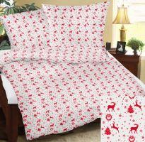 Bavlněné povlečení 70x90-140x200 R4122 vánoční