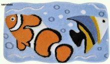 Koupelnová předložka  rybky 60x100 cm (104)