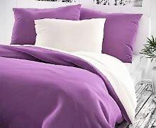 Bavlněný povlak na polštář 50x70cm fialovo/bílé