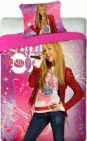 Povlečení Hannah Montana růžová 140x200