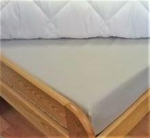 Bavlněné prostěradlo postýlka 60x120 cm - (sv.šedé) 100% bavlna