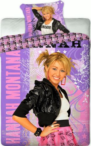 Povlečení Hannah Montana fialová 140x200