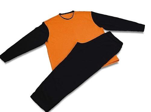 Pánské pyžamo 3523 černá-oranžová (M)
