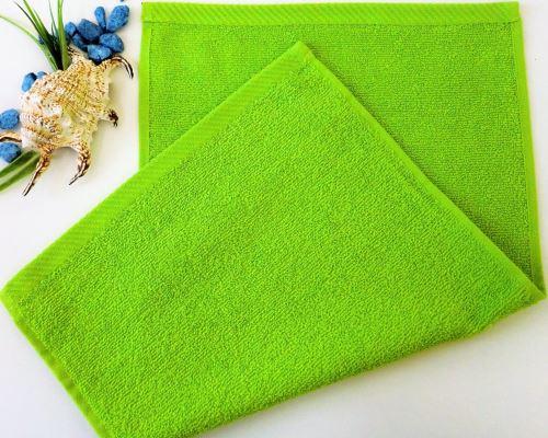 Dětský froté ručník 30x50 cm žlutozelený