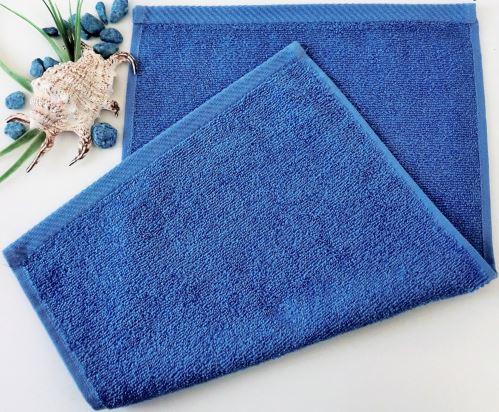 Dětský froté ručník 30x50 cm tm.modrý