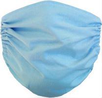 Bavlněná ochranná rouška na ústa Modrá 2-vrstvá