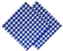 Utěrka tkaná kanafas 45x70cm modré srdíčko 100% Bavlna (1ks)
