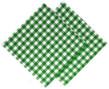 Utěrka tkaná kanafas 45x70cm zelené srdíčko 100% Bavlna (1ks)