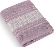 Froté ručník Mozaika 50x100 cm starorůžová