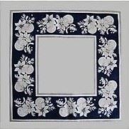 Prostírka 45x45 cm modrá 100% bavlna