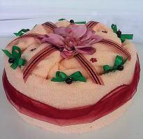 Veratex Textilní dort  jednopatrový - lososový květ