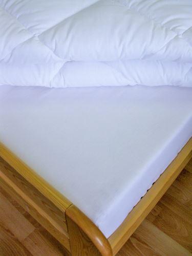 Bavlněné prostěradlo dvoulůžko 220x240 cm ( bílé)
