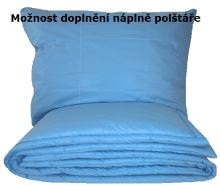 Set polštáře a přikrývky - Bavlna 1200g/ 950g (140x200+70x90cm) modrá (celoroční)