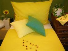 Krepové povlečení prodloužené  70x90 + 140x220 cm (žluté)