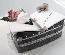 Veratex Textilní dort  kniha (šedá)