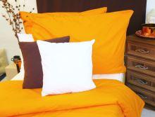 Saténové povlečení Traventina prodloužené oranžové 70x90 + 140x220 cm