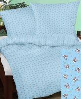 Bavlněné povlečení 70x90-140x200cm modrý pejsek
