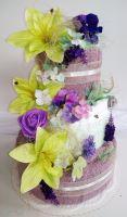 Veratex Textilní dort třípatrový Provence
