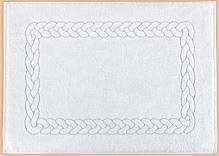 Froté předložka 50x70cm 750g  95°C bílá vzor copánku