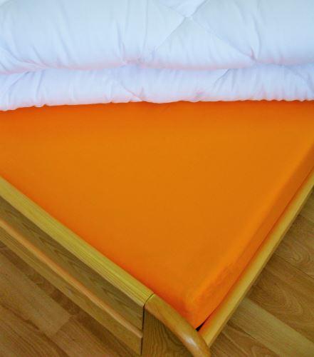 Bavlněné prostěradlo dvoulůžko 220x240 cm (oranžové)