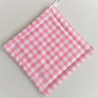 Textilní podložka pod hrnec 20x20cm růžový kanafas tkaný
