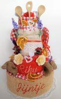 Veratex Textilní kuchyňský dort třípatrový + jména