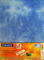 Froté prostěradlo  batika 160x200 cm modrá batika