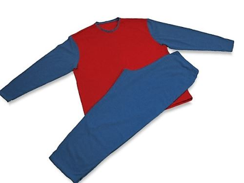 Pánské pyžamo 2418 tm.modrá-červená (L)