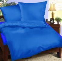 Bavlněné povlečení  prodloužené  70x90 + 140x220 cm středně modré