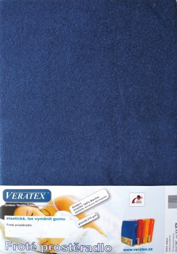 Froté prostěradlo 140x200/16 cm (č.24-nám.modrá)