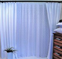 Závěs Orlando  bílý - výška 220/ šířka 150cm