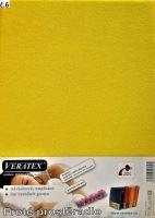 Froté prostěradlo atypické Atyp malý do 85 x 180 cm (č. 6-stř.žlutá)