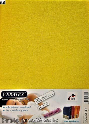 Froté prostěradlo 180x220 cm (č. 6-stř.žlutá)