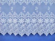 Záclona Květ-kruh výška 80 cm (bílá)