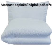 Set polštáře a přikrývky - Bavlna 140x200+70x90cm 1200g/ 950g (60°C) u polštáře lze doplni náplň (celoroční) SNÍMATELNÝ POVLAK POLŠTÁŘE