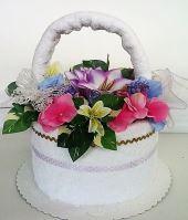 Veratex Textilní dort - květinový košík