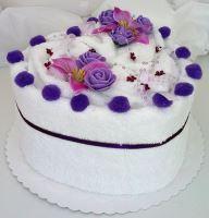 Veratex Textilní dort Srdce jednopatrový
