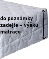 Náhradní potah na matraci 80/200cm na výšku 10cm dvoustranný bavlna/vlna SKLADEM POSLEDNÍ 2KS