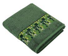 Froté ručník Kameny  50x100 cm tm.zelená