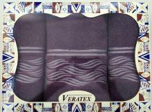 Luxusní dárkový froté set 1 osuška 2 ručníky - Vlnky burgundy 480g m2