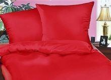 Krepové povlečení  70x90, 140x200 cm červená