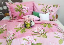 Bavlněný povlak 40x40 cm-zip růžové (511)